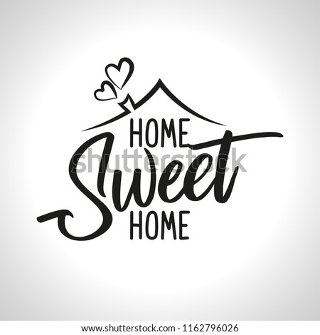 home sweet home   typography