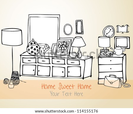 Home Sweet Home Vector Card