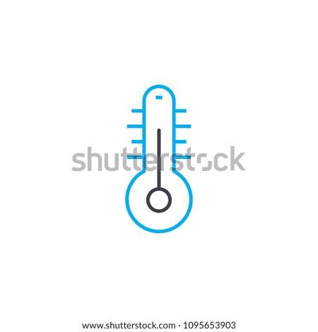 Home temperature linear icon concept. Home temperature line vector sign, symbol, illustration.