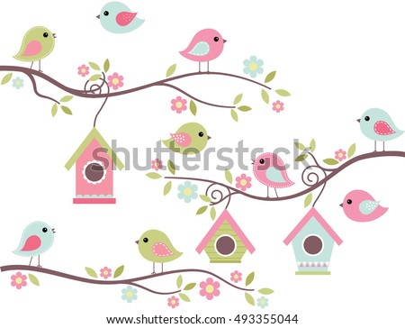 home tweet home   cute birds on