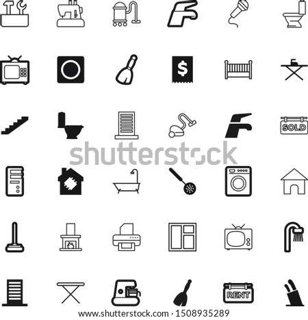 home vector icon set such as: advertisement, stylish, empty, exterior, maker, texture, spoon, dinner, high, ball, quality, fashion, outdoors, fire, decoration, door, caffeine, winter, plumbing, block