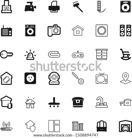 home vector icon set such as