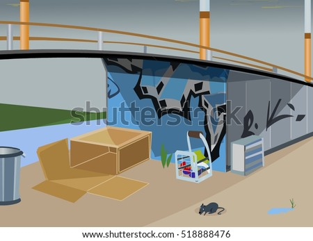 homeless home under bridge