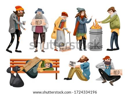 homeless people cartoon