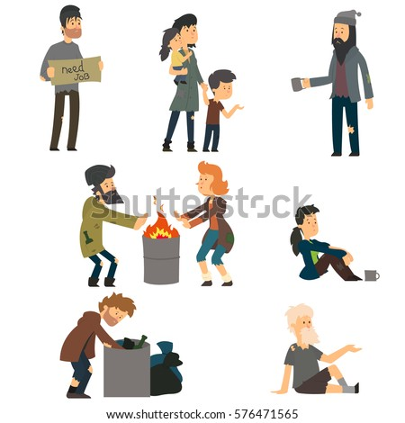 Child Give Homeless To Stock Illustrations – 7 Child Give Homeless To Stock  Illustrations, Vectors & Clipart - Dreamstime