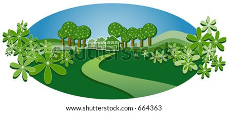 Homely house vector - stock vector