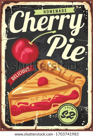 homemade cherry pie vintage