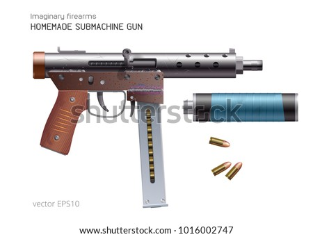 submachine gun download free vector art stock graphics images