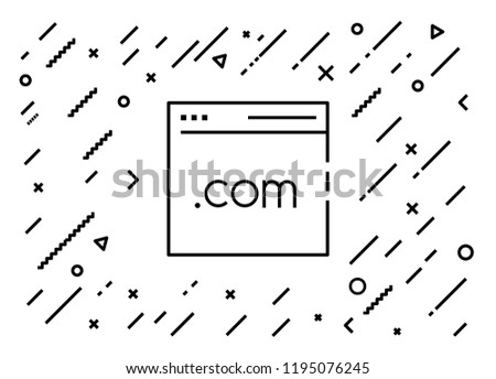 Homepage, HTML, Website Premium quality graphic design elements. Modern sign, linear pictogram, object, outline symbol, simple thin line icon