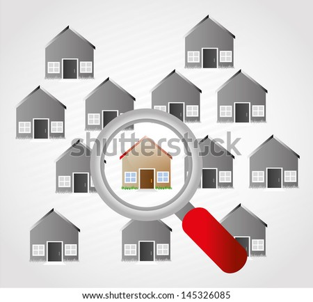 homes design over gray background vector illustration