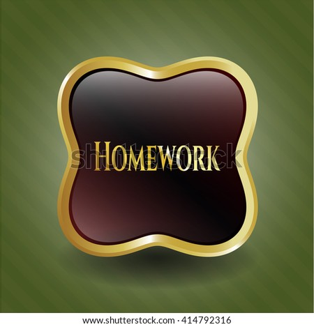 Homework gold shiny badge