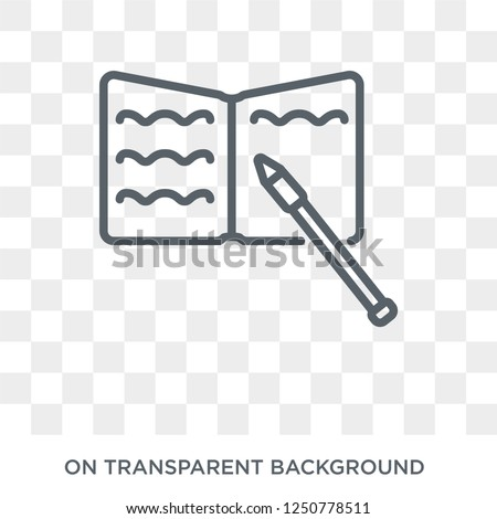 Homework icon. Trendy flat vector Homework icon on transparent background from E-learning and education collection. High quality filled Homework symbol use for web and mobile