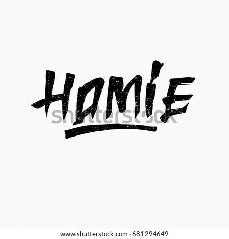 homie ink hand lettering