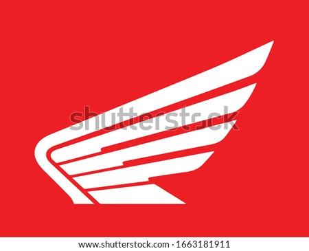 honda motor cycle wing icon