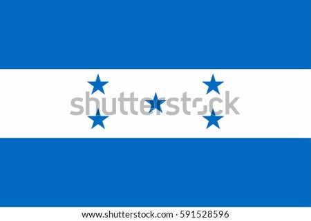 Honduras Flag, official colors and proportion correctly. National Honduras Flag vector. Honduras Flag vector illustration. Honduras Flag vector background. Honduran banner. Honduran banner vector.