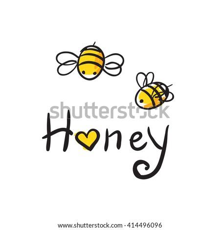 honey and bee icon honey