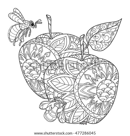 honey apple doodle and bees