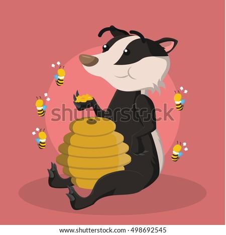 honey badger eating honey