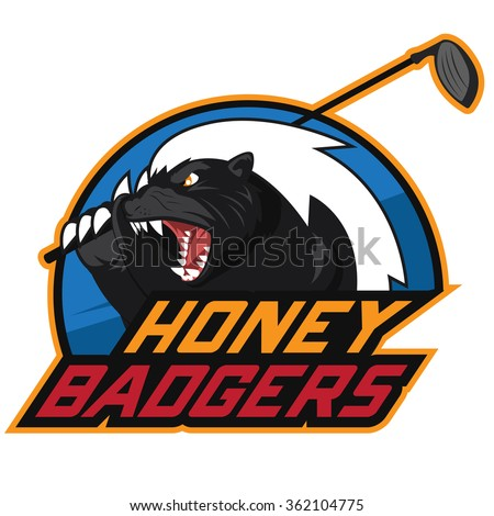 honey badger golf logo
