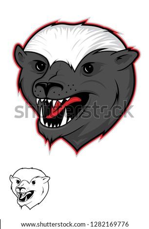 Honey Badger Illustration