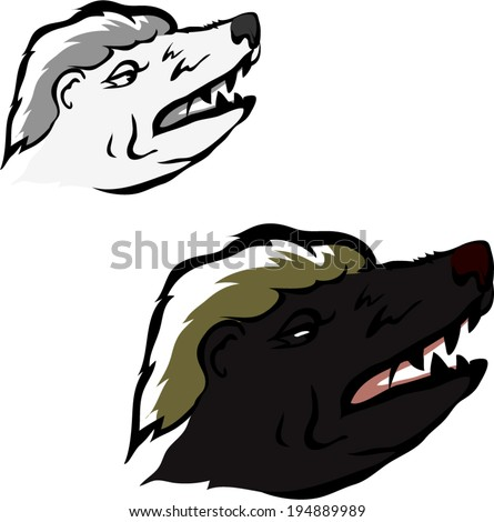 honey badger tattoovector