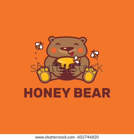 honey bear logo template