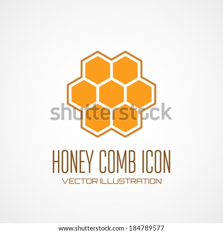 Honey comb icon. Vector illustration