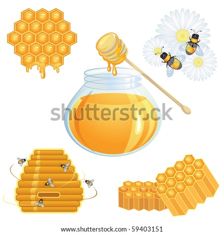 Honey icons collection