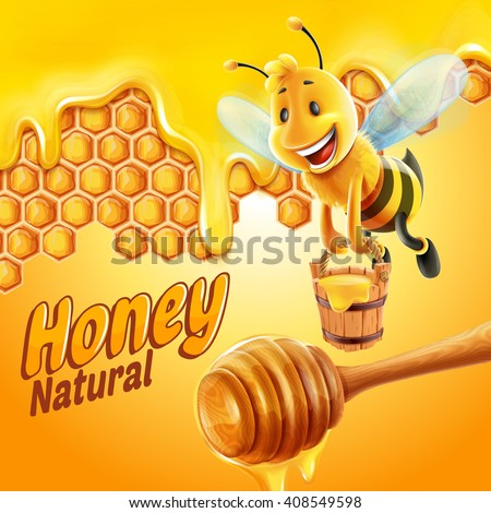 honey product with bee
