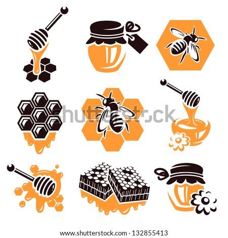 Honey set. Vector
