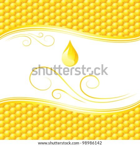 Honeycomb abstract background