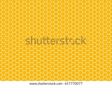 Honeycomb background texture from a bee hive. Vector hexagon pattern.