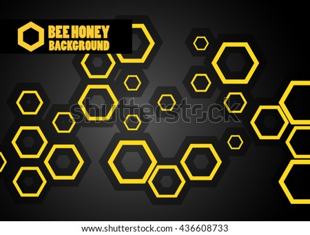 Honeycomb background. Vector illustration of geometric pattern with honeycombs for backgrounds.