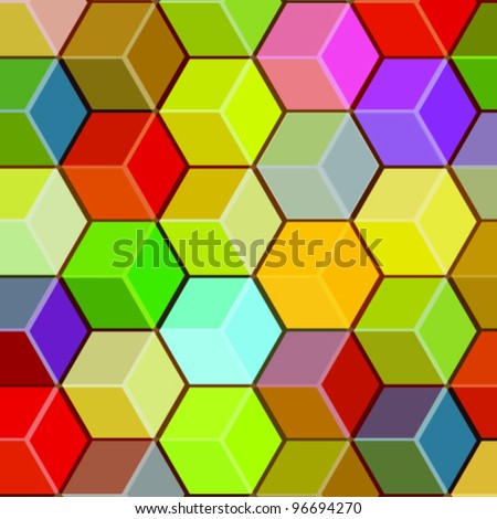 Honeycomb Cubes - Abstract Background Vector