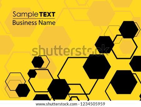 Honeycomb icon. Abstract honeycomb logo vector. Beehive symbol vector. Honey Comb Logo Template Design Vector, Design Concept, Creative Symbol, Icon. Orange abstract  honey background pattern hexagons Сток-фото ©