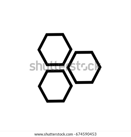 Honeycomb icon in trendy flat style isolated on background. Honeycomb icon page symbol for your web site design Honeycomb icon logo, app, UI. Honeycomb icon Vector illustration, EPS10.