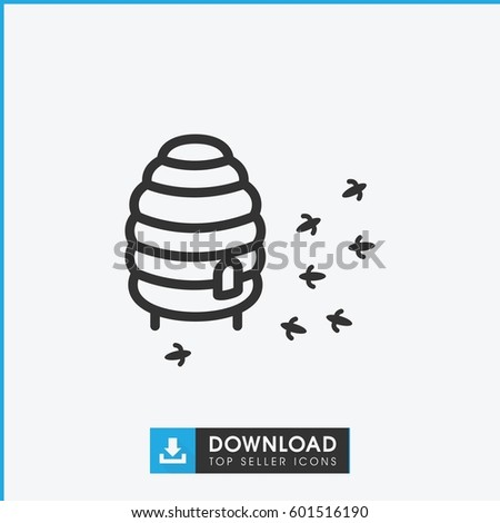 honeycomb icon. simple outline honeycomb vector icon. on white background.