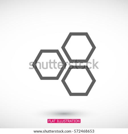 honeycomb icon vector