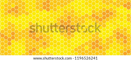 Honeycomb monochrome honey seamless pattern Vector cell cells mosaic background raster fun funny honey bee honeycombs Beehive orange yellow pattern ornament hexagon vintage hexagons geometric shapes