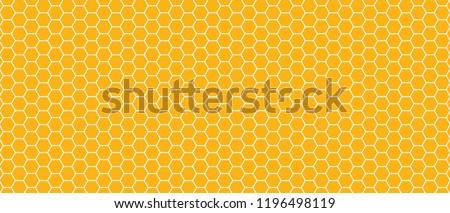 Honeycomb monochrome honey seamless pattern Vector eps hexagon mosaic background raster fun funny honey bee honeycombs Beehive orange and yellow ornament hexagon vintage hexagons of geometric shapes