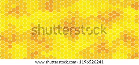 Honeycomb monochrome honey seamless pattern Vector eps mosaic background raster fun funny honey bee honeycombs Beehive orange and yellow honeycomb ornament hexagon vintage hexagons of geometric shapes