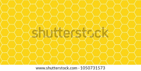 honeycomb pattern. seamless geometric hive background. abstract honeycomb. vector illustration. design for the background display, flyers, brochures fabric, clothes, texture, textile pattern. yellow