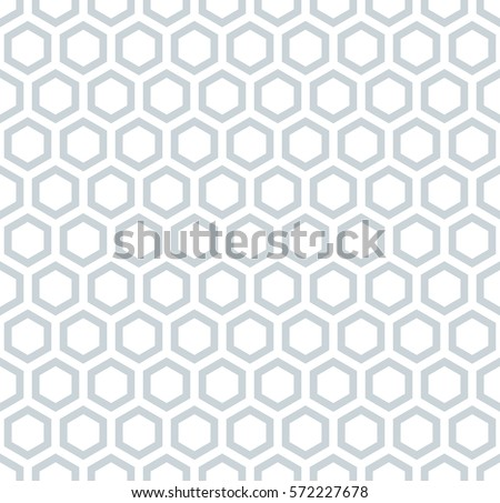Honeycomb pattern. Seamless hexagons texture. Vector art.