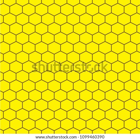 Honeycomb seamless model. Hexagon vector drawing background