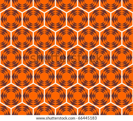 Honeycomb seamless pattern. Bee's cells. Vector design.