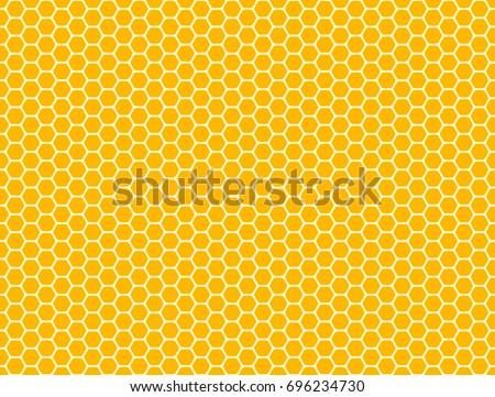 Honeycomb seamless pattern. Vector hexagon background