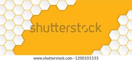 Honeycomb seamless pattern Vector monochrome honey seamless pattern cell cells mosaic background raster fun funny honey bee honeycombs Beehive orange yellow ornament hexagons geometric shap Molecule