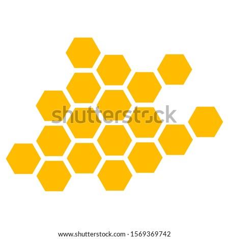 Honeycomb. Vector Illustration of Geometric Hexagons Background Сток-фото ©