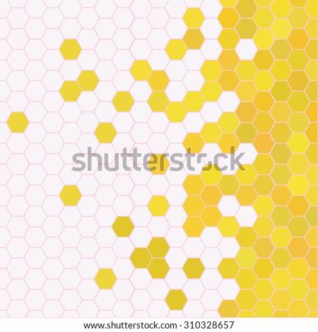 honeycomb with honey background