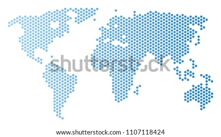 Free vector mosaic world map download free vector art stock honeycomb world map vector territorial scheme in light blue color with horizontal gradient abstract gumiabroncs Gallery